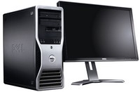 Dell Precision T3400 s monitorem