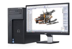 Dell Precision T1700 a monitorem