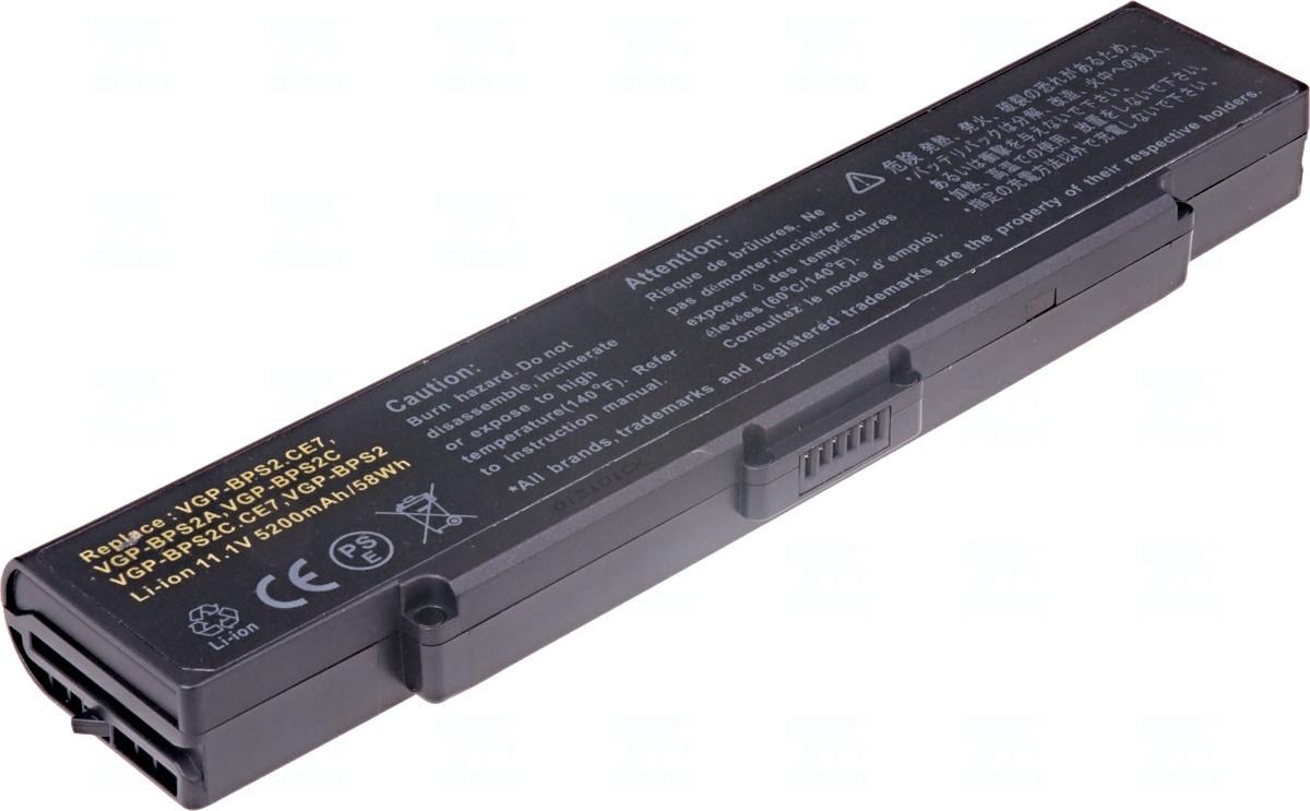 T6 power Baterie T6 power VGP-BPL2, VGP-BPS2, VGP-BPS2A, VGP-BPS