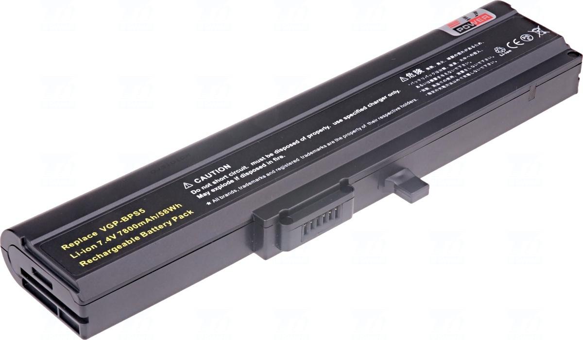 T6 power Baterie T6 power VGP-BPS5, VGP-BPS5A NBSN0023