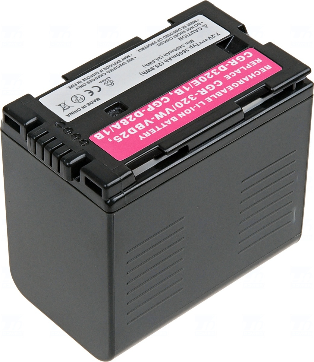 T6 power Baterie T6 power CGR-D320, VW-VBD25, CGR-D28A/1B, CGP-D