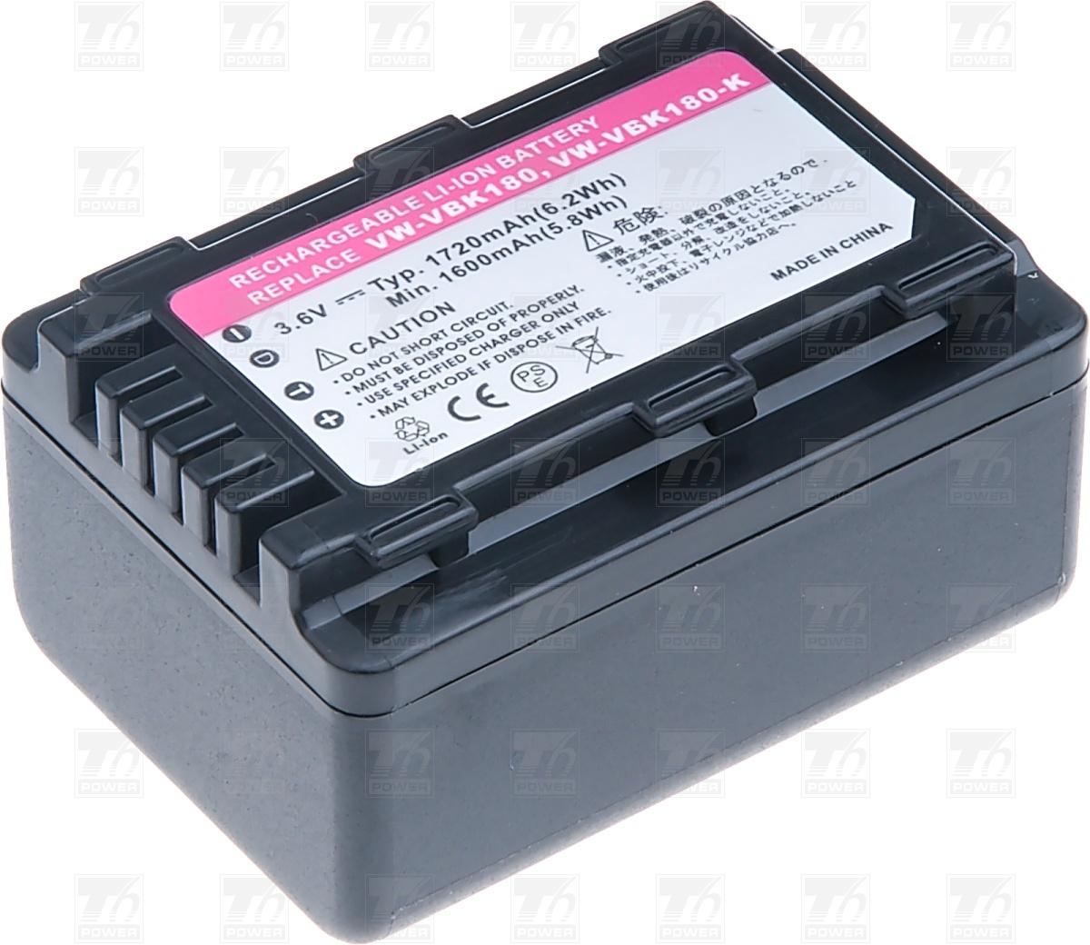 T6 power Baterie T6 power VW-VBK180, VW-VBK180E-K, VW-VBK180GK,