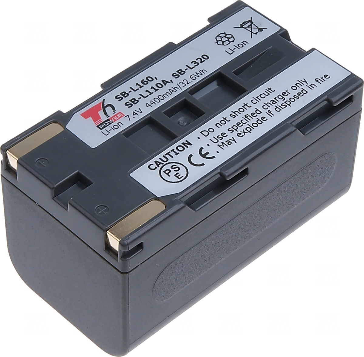 T6 power Baterie T6 power SB-L160, SB-L110A, SB-L320, šedá VCSA0