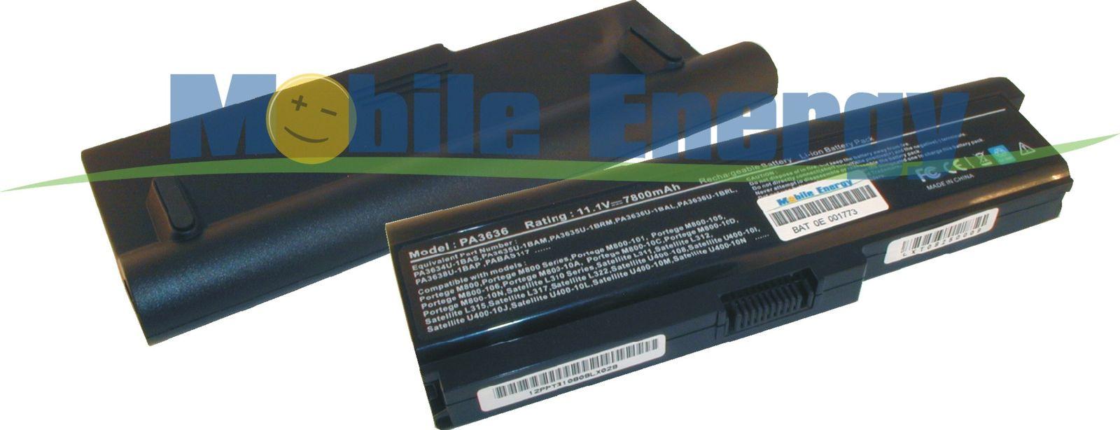 Mobile-Energy Baterie TOSHIBA Portege M800 / M810 / M820 / M830